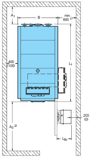 Схема помещения для установки газового котла.