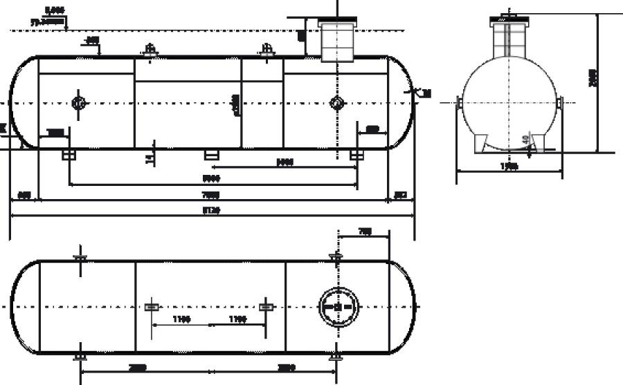 Сосуд СУГ 1600-1,6-10-П1 (10м3)
